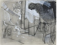 study for the set of scottish opera's production of don giovanni by peter howson