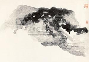 云山图 landscape by zhang daqian