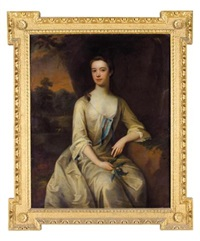 portrait of a lady (henrietta louise jeffreys, countess of pomfret?) by charles d' agar