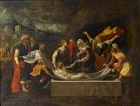 the entombment of christ by benvenuto tisi da garofalo