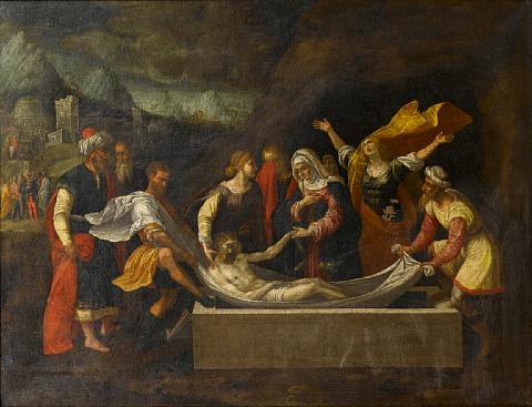 the entombment of christ by benvenuto tisi da garofalo