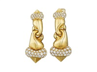 ear pendants (pair) by bulgari