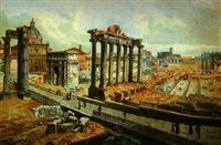 the forum, rome by françois martin