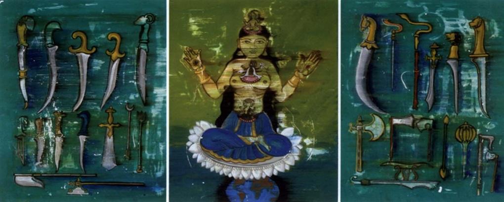 untitled triptych by reena saini kallat