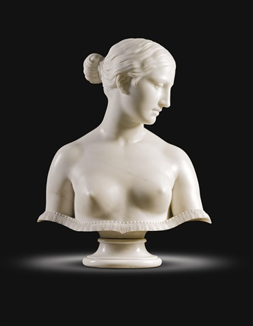 bust of the greek slave by hiram powers
