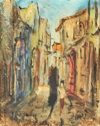 jerusalem street scene by zvi raphaeli