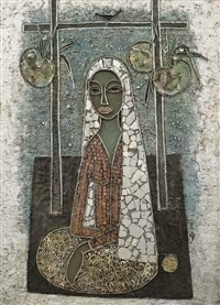 seated lady by cheong soo pieng