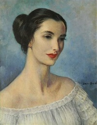 head of a dancer by leon kroll