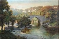 the brig o'balgownie in old aberdeen by george melvin rennie