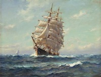 ships at sea by frank vining smith