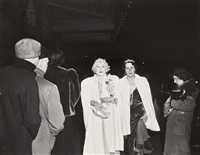 the critic (opening night at the metropolitan opera, new york city) by weegee
