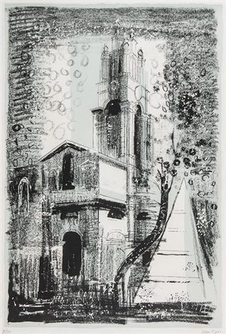 st annes limehouse london by nicholas hawksmoor by john piper