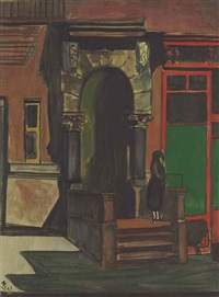 east 249 street entrance by alice neel