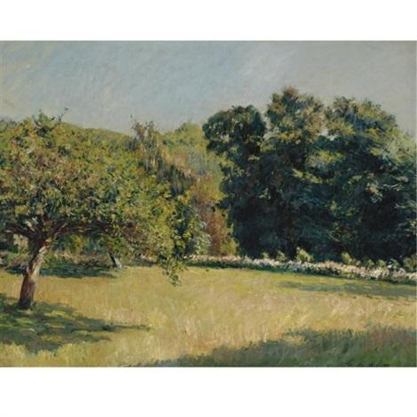 un jardin à trouville by gustave caillebotte
