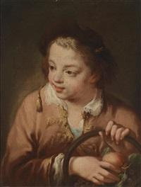 ein knabe mit einem korb mit obst by giovanni battista piazzetta