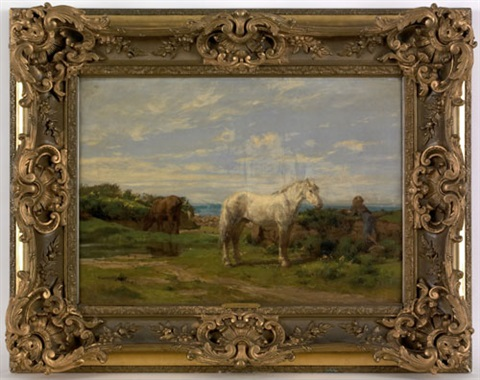 landscape with a horse and boy by alfred robert quinton