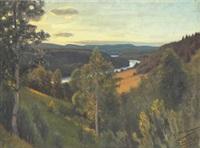 landskap med älv by stan gustaf herman ankarcrona