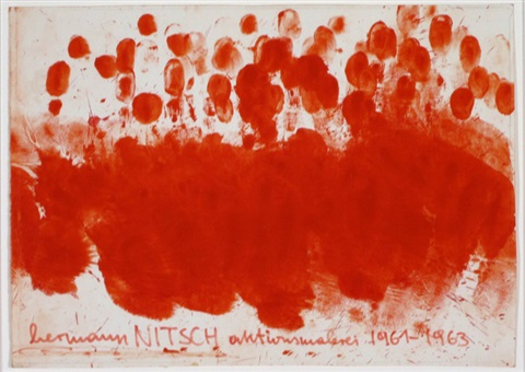 ohne titel aktionsmalerei 19611963 by hermann nitsch