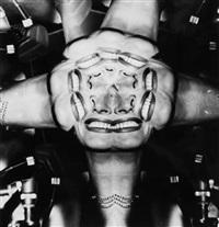 joan crawford distortion, ca.1950 by weegee