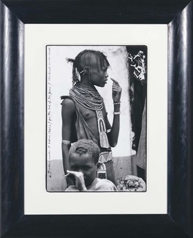 turkana maiden at lodwar by peter beard