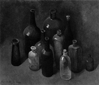 stilleven met flessen by sarika goth