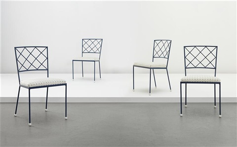 croisillon side chairs set of 4 by jean royère