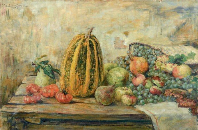 nature morte aux fruits by norbert goeneutte