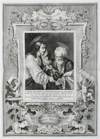 la raccolta di cento dodici stampe di pittura della storia sacra. szenen aus dem alten und neuen testament (set of 67) by pietro monaco