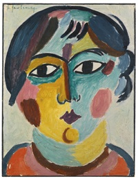 mädchenkopf - die asiatin (head of girl - the asian) by alexej jawlensky