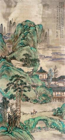 青绿山水 by tao kai