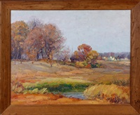 october scene by george a. renouard