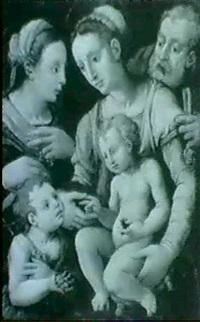 sainte famille et saint jean-baptiste by girolamo genga