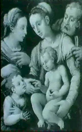 sainte famille et saint jean baptiste by girolamo genga