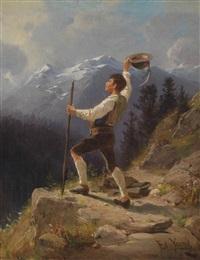 junger mann im hochgebirge by edward young