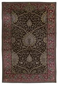 black tree carpet by william morris