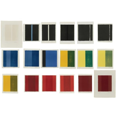 18 cantos (portfolio of 18 works) by barnett newman