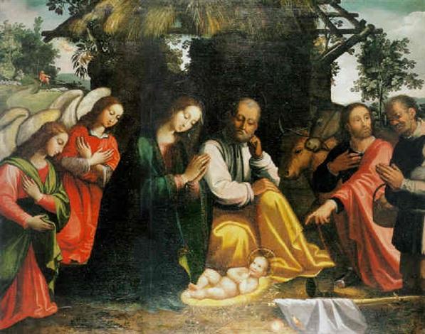 la adoración de los angeles y de los pastores by juan fray sanchez y cotan