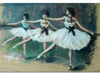 trois danseuses à la barre by france leplat