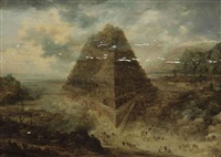 the tower of babel by frans de momper
