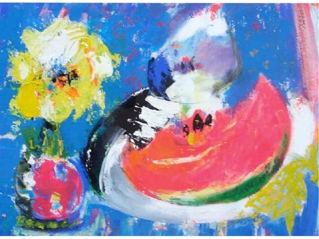composition à la pastèque by bernard lorjou