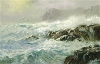 storm at sea by wendell rogers