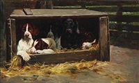 the dogs are resting by simon ludvig ditlev simonsen