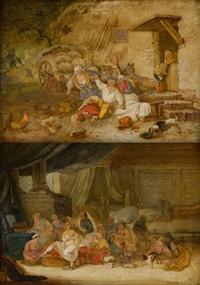 les préparatifs du trousseau (+ les détrousseurs; 2 works) by marc antoine bilcoq
