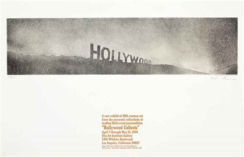 hollywood collects by ed ruscha