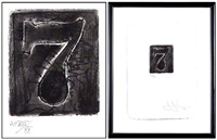 numeral 7 (from set of 10 numerals) by jasper johns