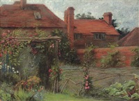 the kitchen garden, the manor farm, ashmansworth, hampshire by sir david murray