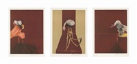 second version, triptych (set of 3) by francis bacon