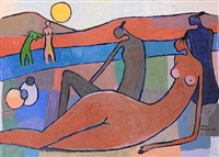 bathers by yomi momoh