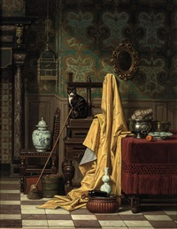 a domestic interior by charles joseph grips