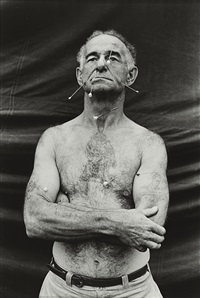the human pincushion (1), ronald c. harrison by diane arbus